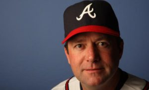 KISSIMMEE, FL - FEBRUARY 25:  Roger McDowell #45 of the Atlanta Braves poses during Photo Day on February 25, 2008 at Disney's Wide World of Sports in Kissimmee, Florida.  (Photo by Elsa/Getty Images)