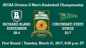 No. 5 Richard Bland Advances To Quarterfinals With 81-70 Victory Past Cincinnati State