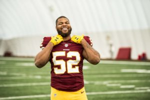 Ryan Anderson in his Washington Redskins uniform.