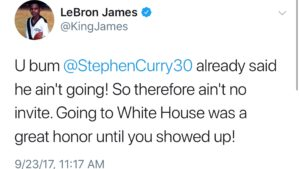 LeBron James taking up for all sports including NASCAR