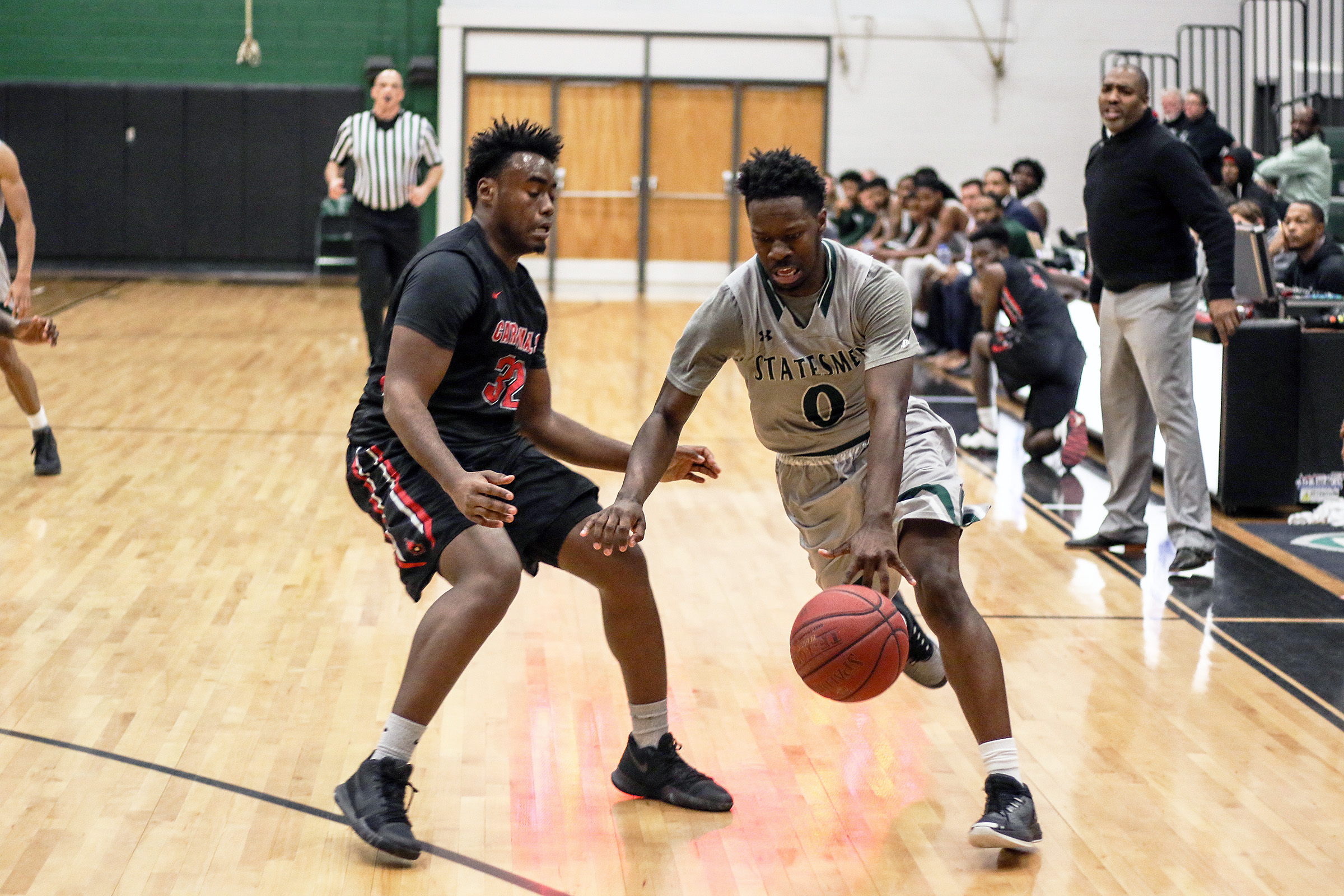 No. 7 Richard Bland Men's Basketball Rallies Past CCBC Catonsville (Md.) 89-82