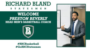 Richard Bland Names Preston Beverly Head Men's Basketball Coach