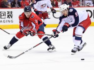 Capitals give up two different leads and fall in overtime to Columbus