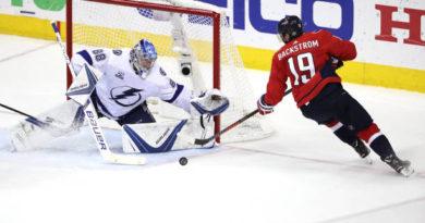 Vasilevskiy keeps Capitals at bay as Tampa ties the series