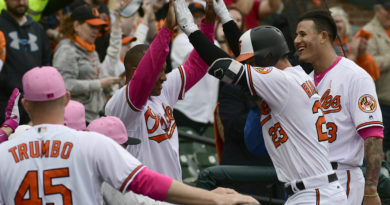 Joey Rickard and the Orioles offense smother Rays on Mother's Day, 17-1