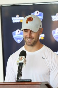 How do veterans and  rookies approach training camp for the Washington Redskins