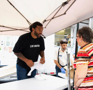 No Days Off: Julius Peppers Heads to Robeson County To Aid In Hurricane Relief Efforts (Photos)