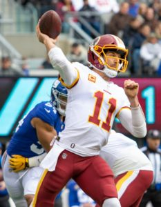 What should the Redskins do about the Quarterback position in 2019?