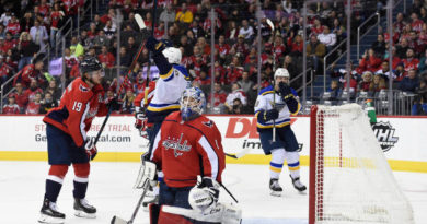 Blues Use Explosive Second Period to Secure Season Sweep of Caps