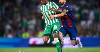 Junior Firpo: Arsenal, Manchester City and Real Madrid target talks Real Betis' Season