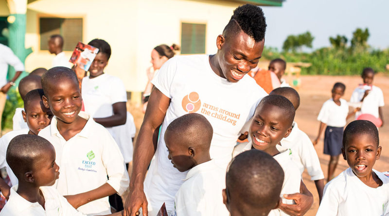 Exclusive: Newcastle United star Christian Atsu Empowering African Children as Arms Around the Child Ambassador