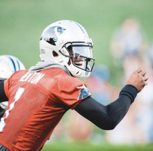 """All That Speculation Stops Today"" - Cam Newton Opens Training Camp With a Few Bombs (Video)"